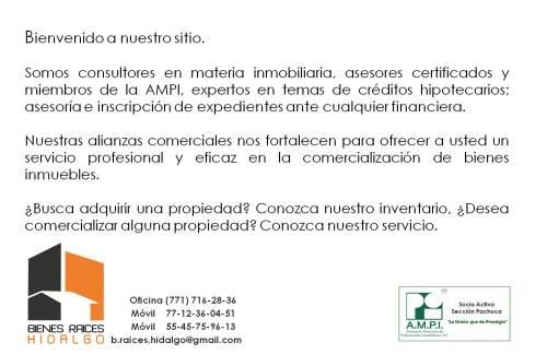 Inmobiliaria en Hidalgo